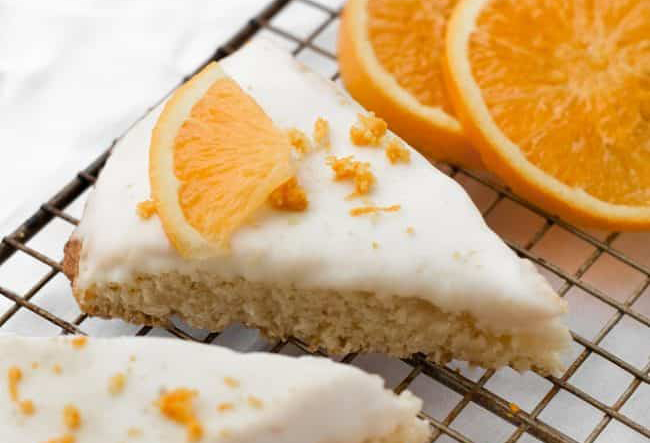 Keto Friendly Orange Glazed Scones